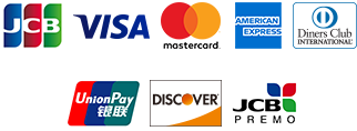 JCB,Visa,Mastercard,American Express,DinersClub,銀聯カード,DISCOVER